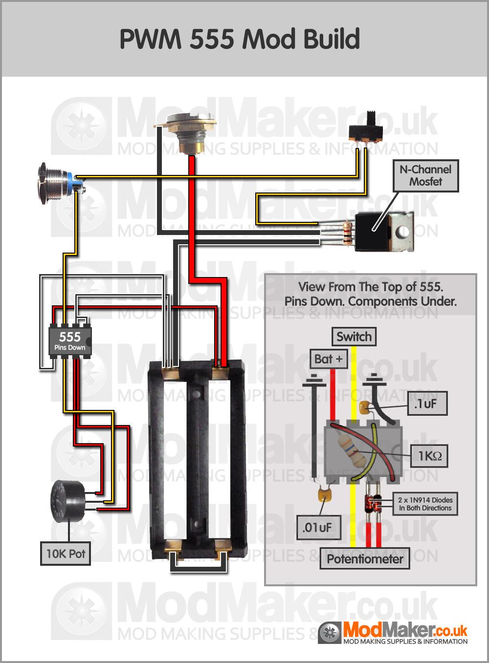 PWM 555 Wiring DiagramModMaker