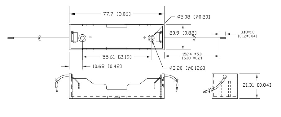 Blossom 18650 Battery Sled Diagram